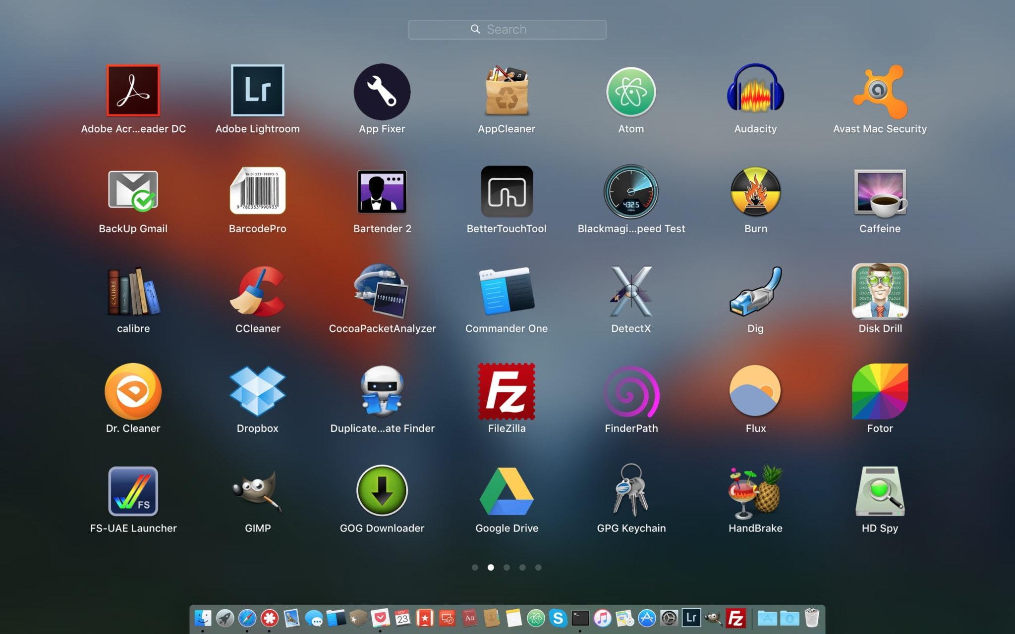 Reset układu Launchpad w macOS