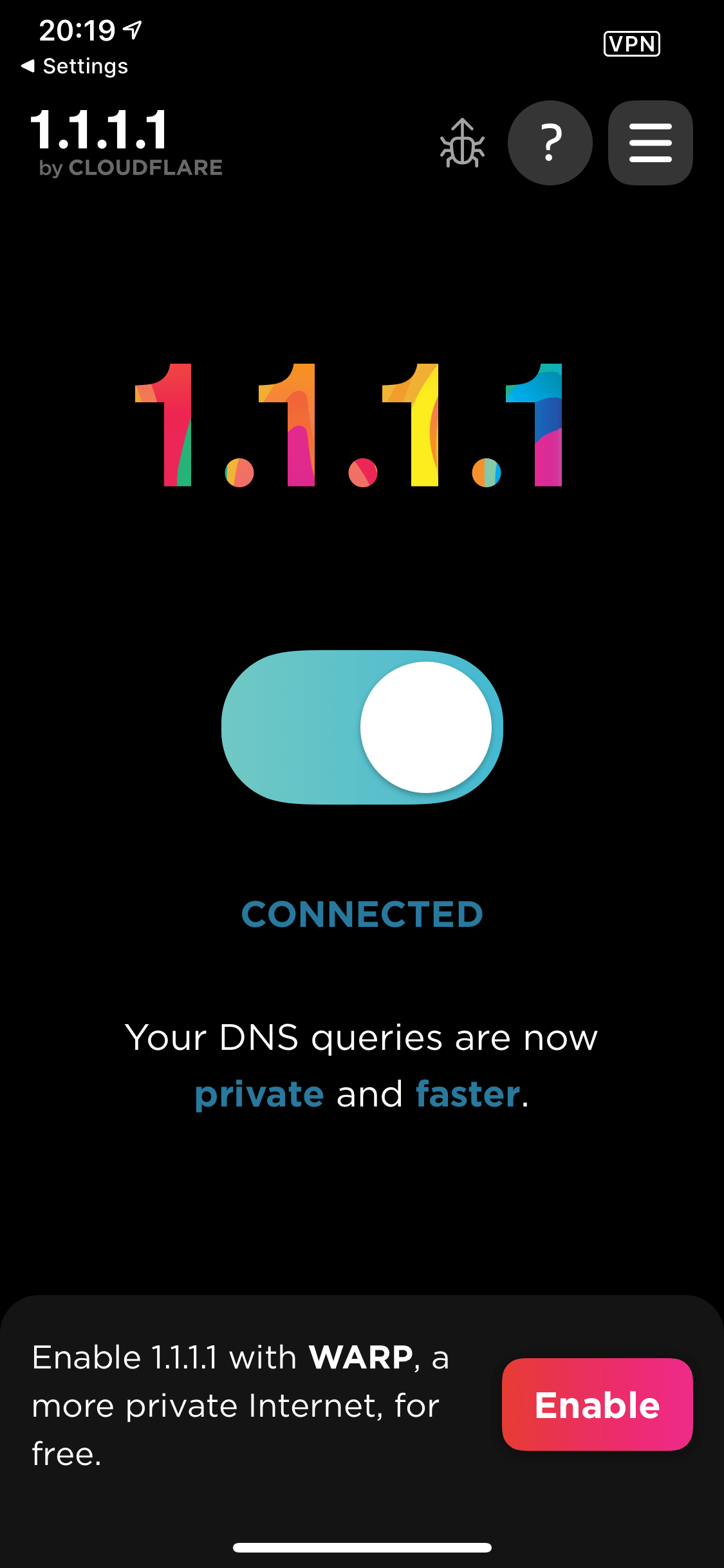 CloudFlare App Connected