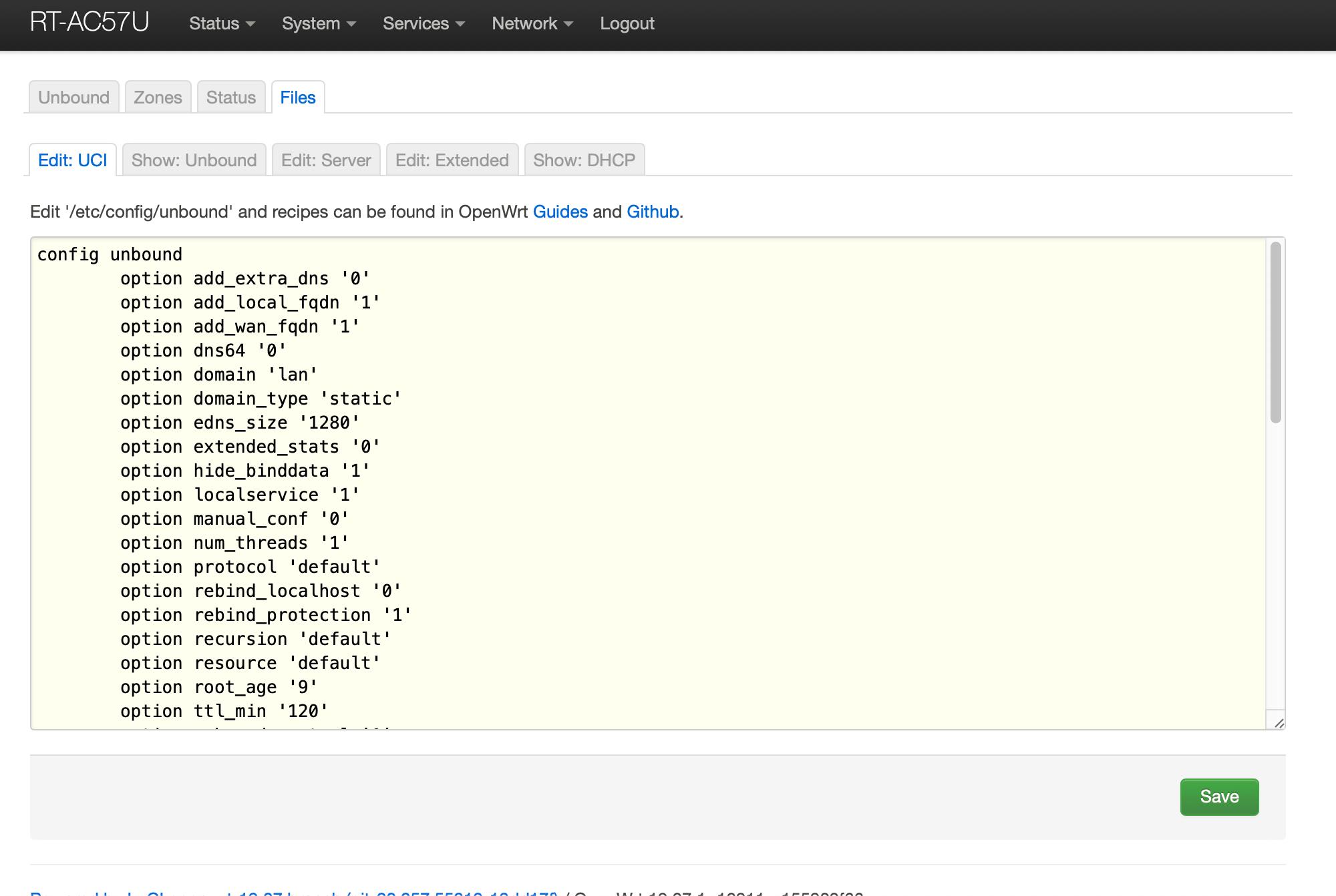 OpenWrt Recursive DNS Files UCI