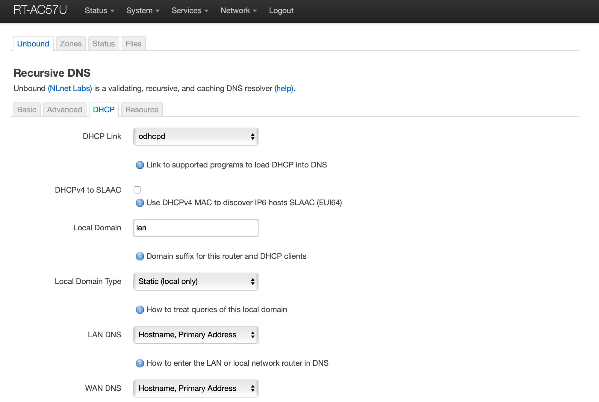 OpenWrt Recursive DNS Unbound DHCP Part 1